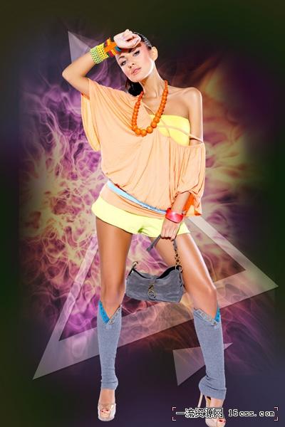 创建动态艺术在Adobe Photoshop CS5使用发光和灯光效果