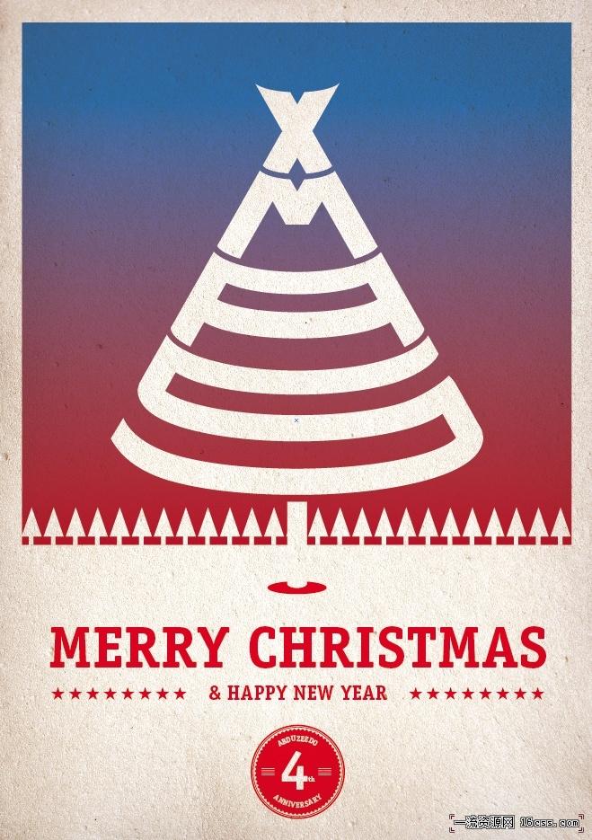 15b43417243a4446c73f44c94f836ce7 在PHOTOSHOP中设计漂亮的圣诞树