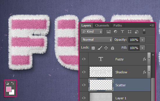 Striped Fuzzy Text Effect step 9