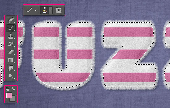 Striped Fuzzy Text Effect step 5