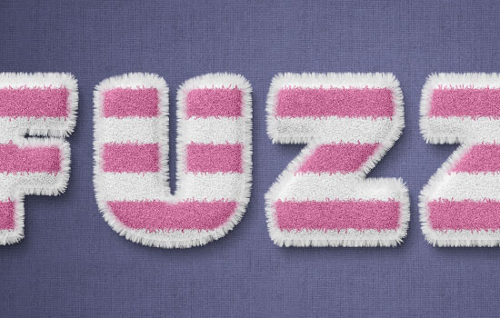 Striped Fuzzy Text Effect step 7