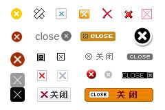 网页close关闭小图标