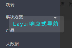 Layui响应式导航菜单