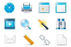 一组精美的网页设计常用图标素材22个下载