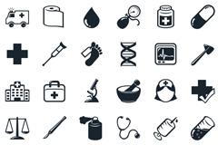 一组医院医疗行业网页灰色图标