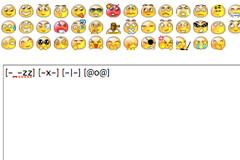 点击表情添加表情符到文本框中