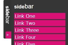 网页框架侧边栏平滑弹出菜单效果