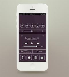 白色苹果手机UI模型psd样机素材