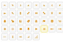 黄色简洁的jQuery框架图标按钮代码