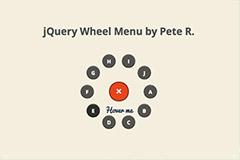 jquery轮菜单