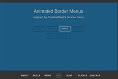 jquery导航插件AnimatedBorderMenus