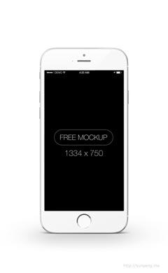 白色苹果手机UI样机素材