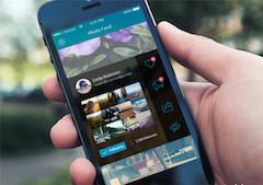 蓝色手机模型手机UIpsd样机素材