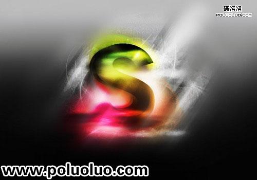 Photoshop打造超酷的立体炫彩字,PS教程,思缘教程网
