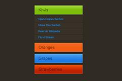 jquery弹性竖导航网页菜单