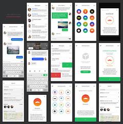 手机UI界面设计PSD分层素材下载