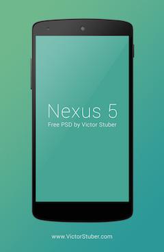 nexus5手机模型psd样机素材