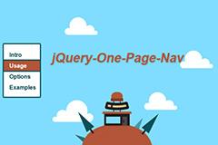 jquery左边垂直单页网站导航