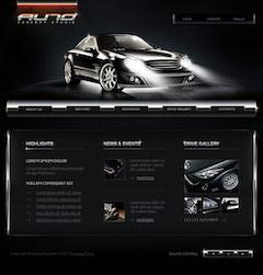 汽车网站设计模板psd图片素材