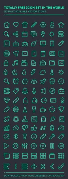 简洁网页UI手机图标psd图片素材下载