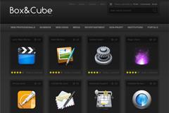 精美UI图标设计网站PSD模板