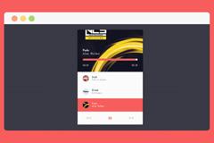 jQuery流媒体音乐播放器特效