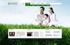 绿色雨润集团网站psd模板分层素材