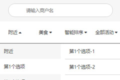 vue列表切换筛选搜索效果代码