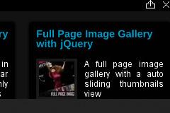jQuery底部自动伸缩的内容面板广告